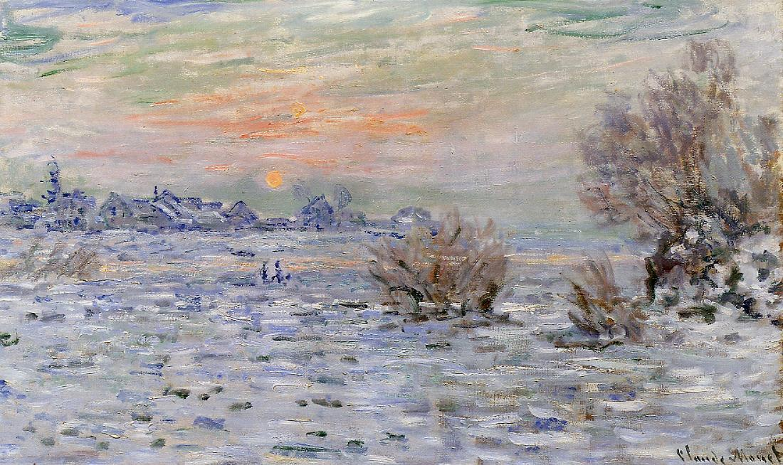 Winter on the Seine Lavacourt 1879-1880 | Claude Monet | Oil Painting