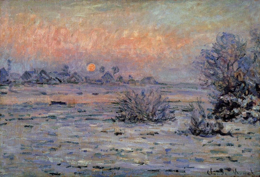 Winter Sun Lavacourt2 1879-1880 | Claude Monet | Oil Painting