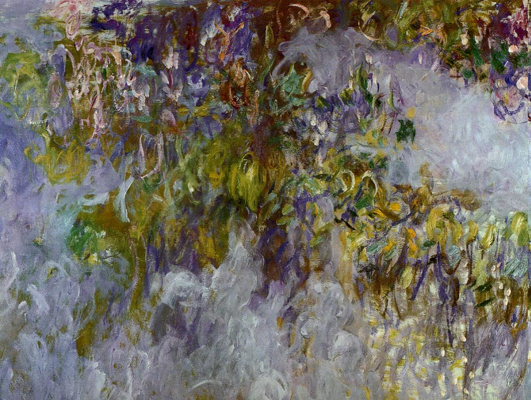 Wisteria (left half)2 1917-1919 | Claude Monet | Oil Painting