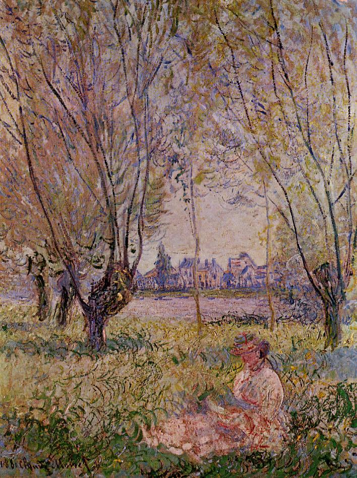 Woman Sitting under the Willows 1880 | Claude Monet | Oil Painting