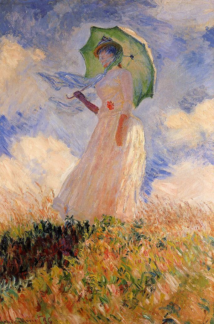 Woman with a Parasol 1886 | Claude Monet | Oil Painting