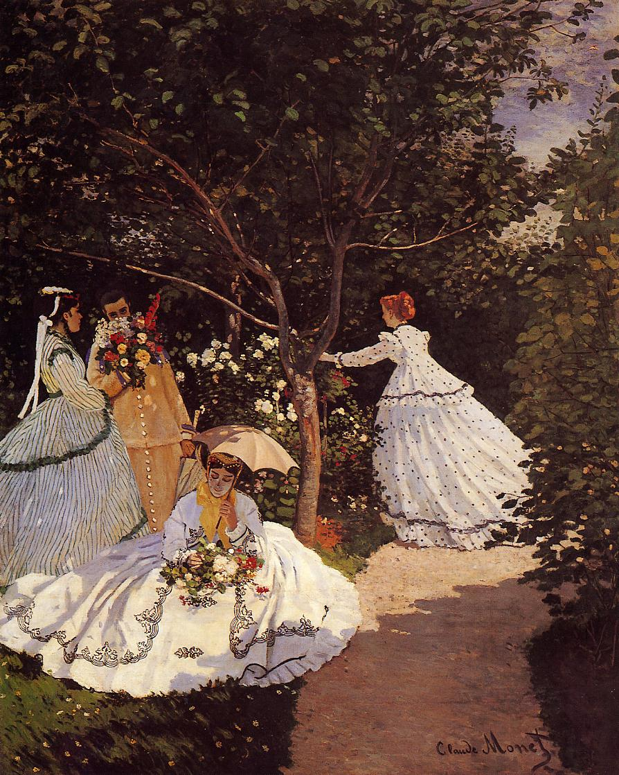 Women in the Garden 1867 | Claude Monet | Oil Painting