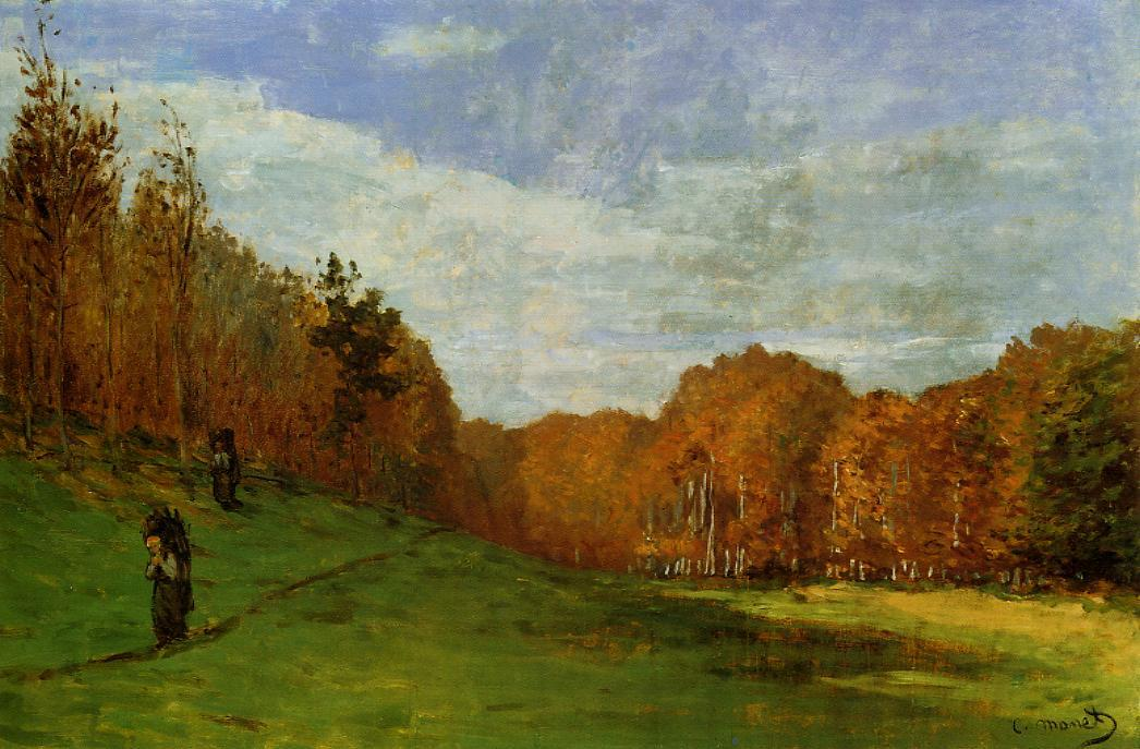 Woodbearers in Fontainebleau Forest 1864 | Claude Monet | Oil Painting
