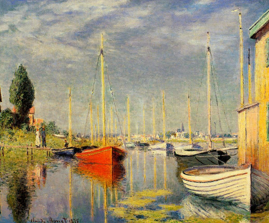 Yachts at Argenteuil 1875 | Claude Monet | Oil Painting