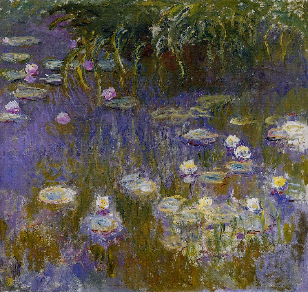 Yellow and Lilac Water-Lilies 1914-1917 | Claude Monet | Oil Painting