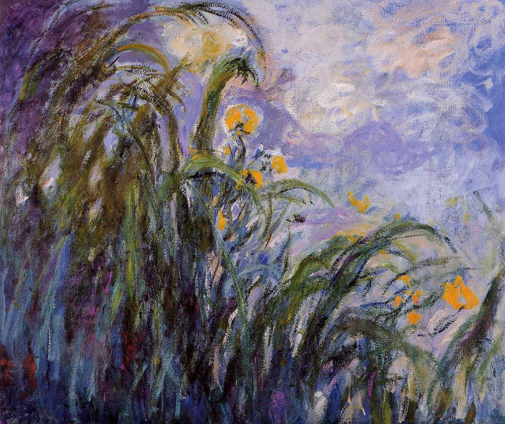 Yellow Irises1 1914-1917 | Claude Monet | Oil Painting