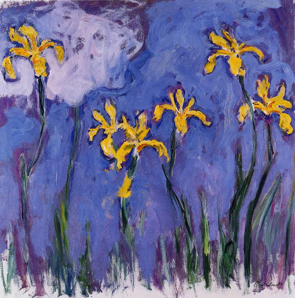 Yellow Irises with Pink Cloud 1914-1917 | Claude Monet | Oil Painting