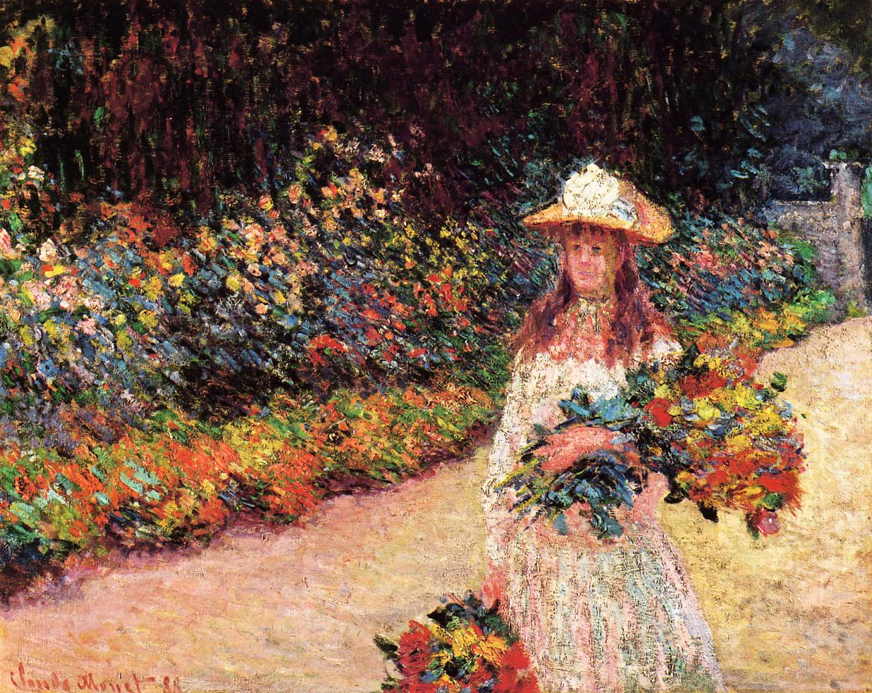 Young Girl in the Garden at Giverny 1888 | Claude Monet | Oil Painting