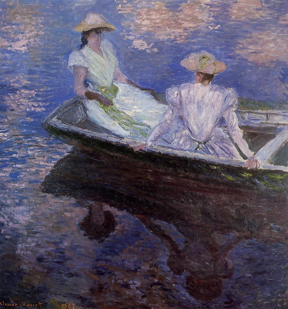 Young Girls in a Row Boat 1887 | Claude Monet | Oil Painting