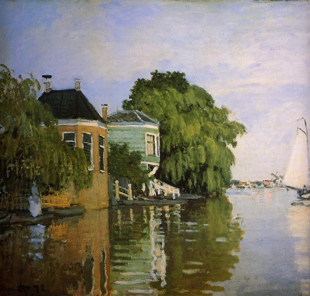 Zaandam (detail) 1871 | Claude Monet | Oil Painting