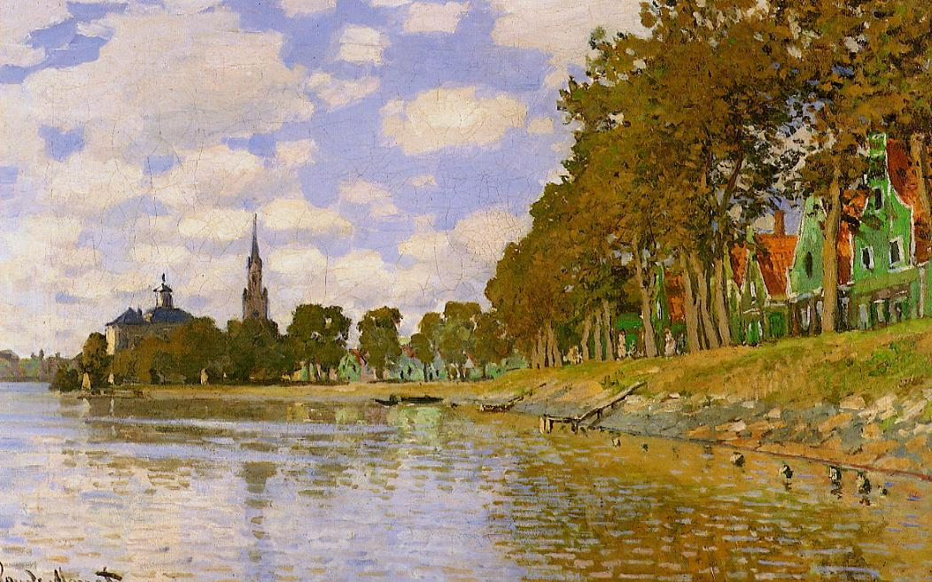 Zaandam 1871 | Claude Monet | Oil Painting