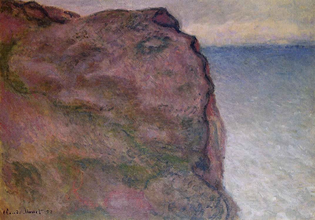 Cliff at Petit Ailly at Varengeville 1896   Claude Monet   Oil Painting