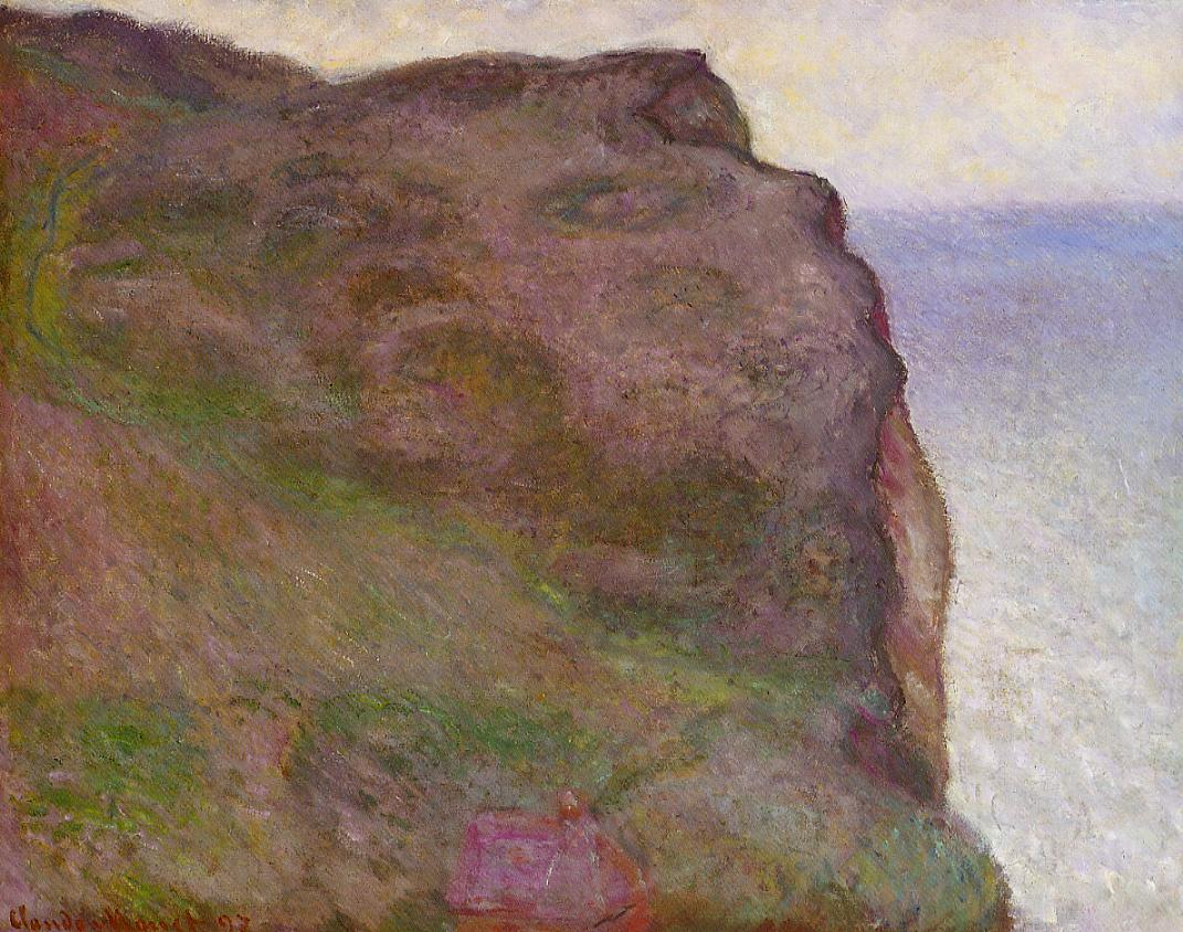 Cliff at Petit Ailly in Grey Weather 1897   Claude Monet   Oil Painting