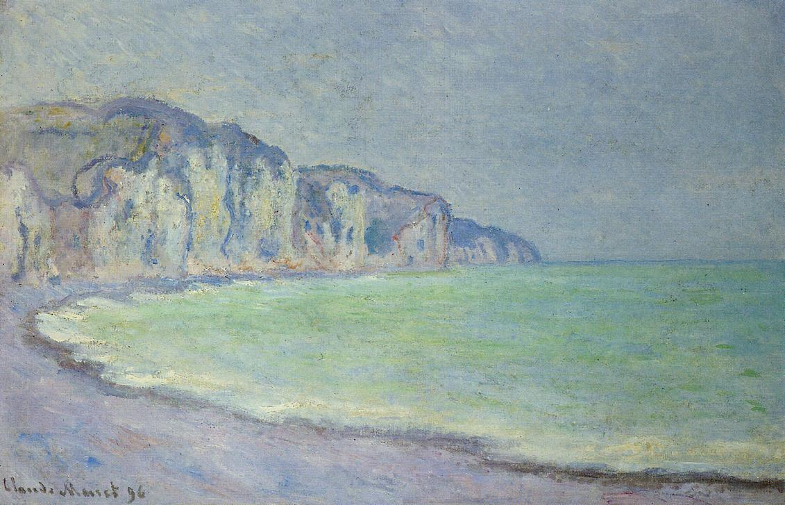 Cliff at Pourville1 1896   Claude Monet   Oil Painting