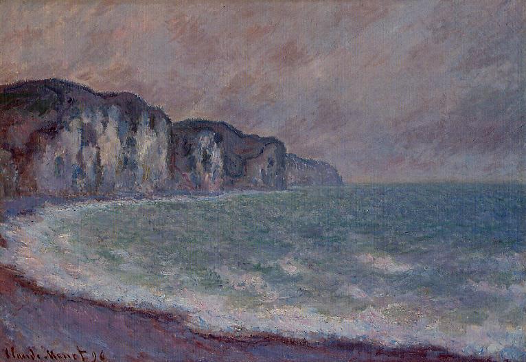 Cliff at Pourville2 1896   Claude Monet   Oil Painting