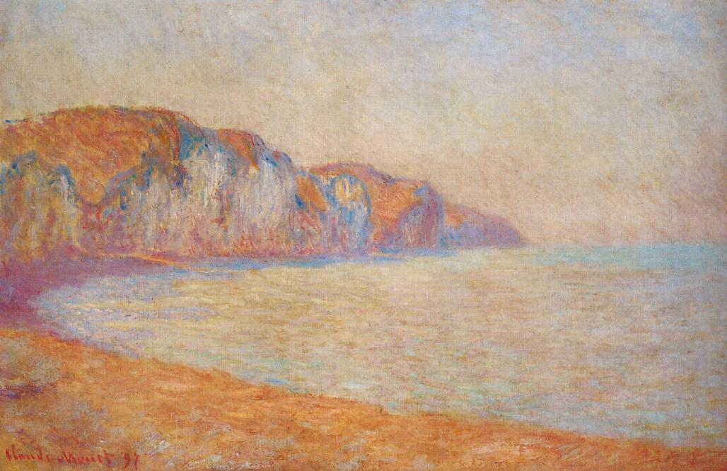 Cliff at pourville in the Morning 1897   Claude Monet   Oil Painting