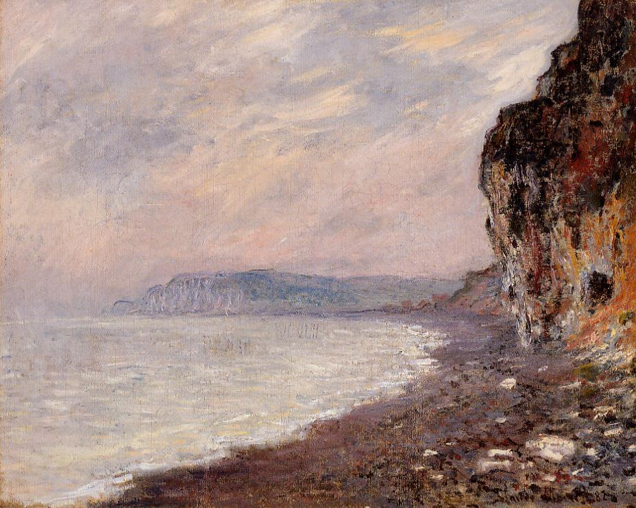 Cliffs at Pourville in the Fog 1882   Claude Monet   Oil Painting