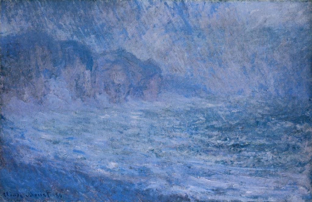 Cliffs at Pourville Rain 1896   Claude Monet   Oil Painting