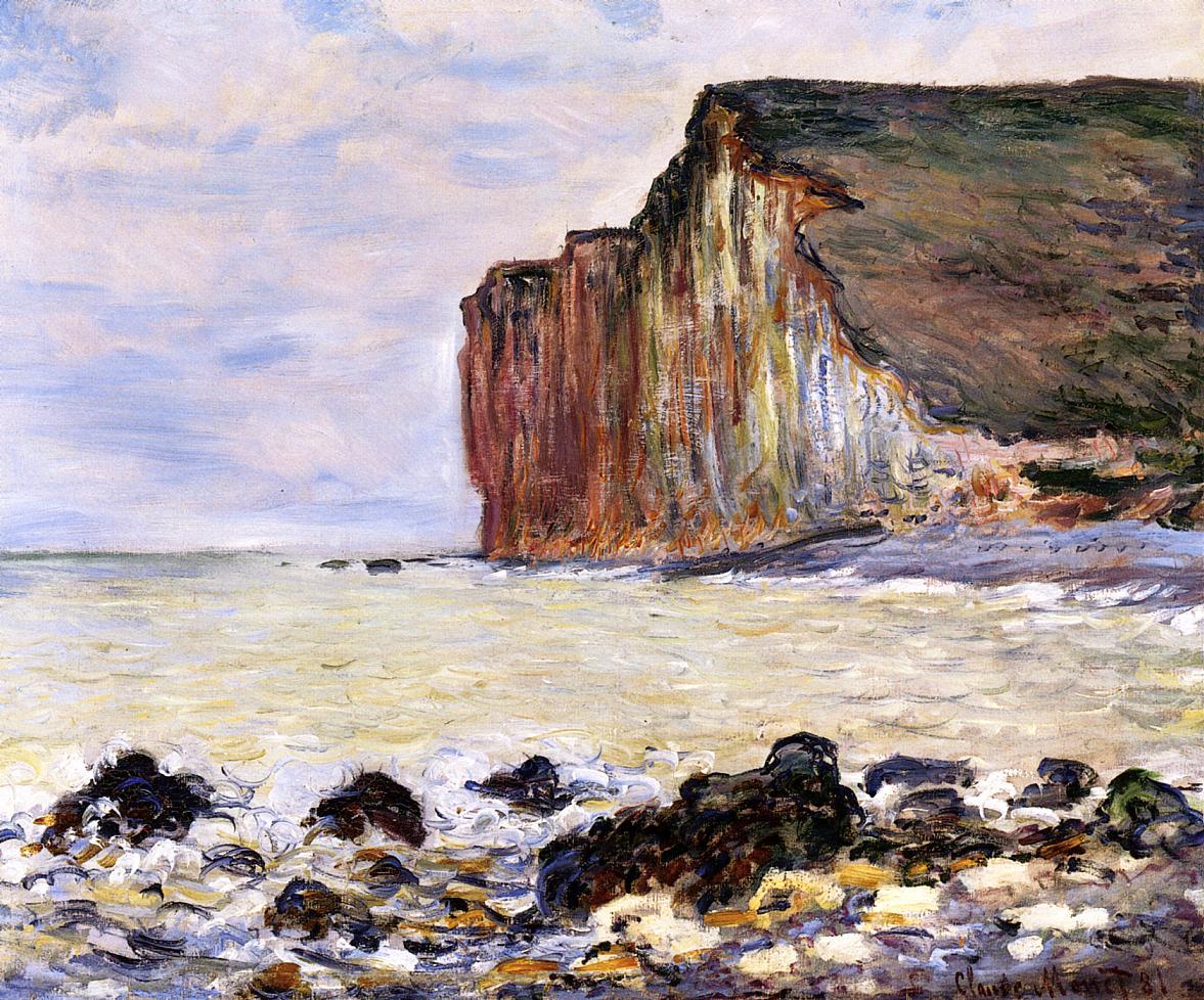 Cliffs of Les Petites-Dalles 1881   Claude Monet   Oil Painting