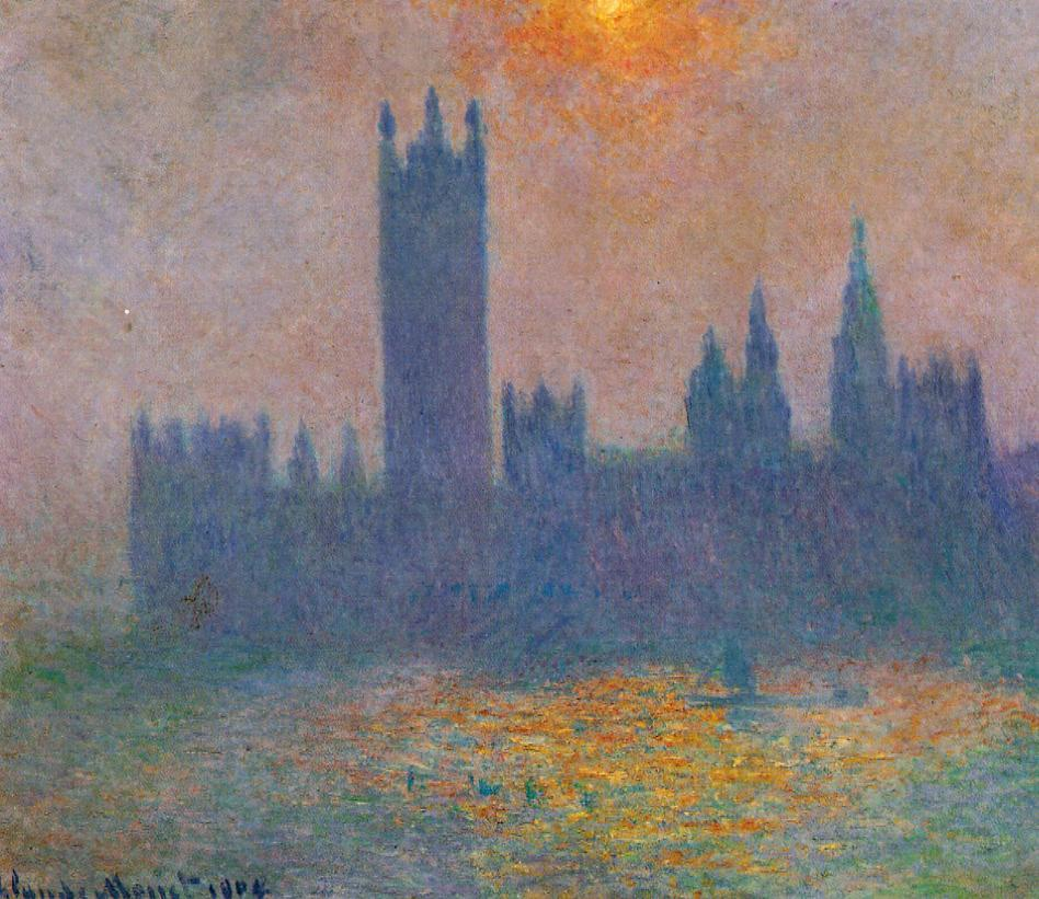 Houses of Parliament Effect of Sunlight in the fog2 1900-1901 | Claude Monet | Oil Painting