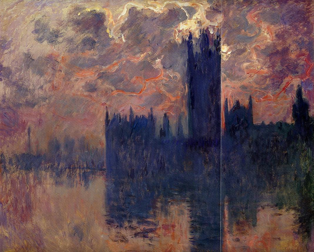 Houses of Parliament Sunset (detail) 1900-1901 | Claude Monet | Oil Painting