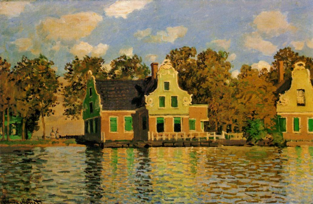 Houses on the Zaan River at Zaandam 1871 | Claude Monet | Oil Painting