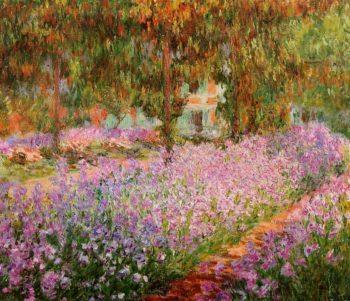 Irises in Monets Garden 1900 | Claude Monet | Oil Painting