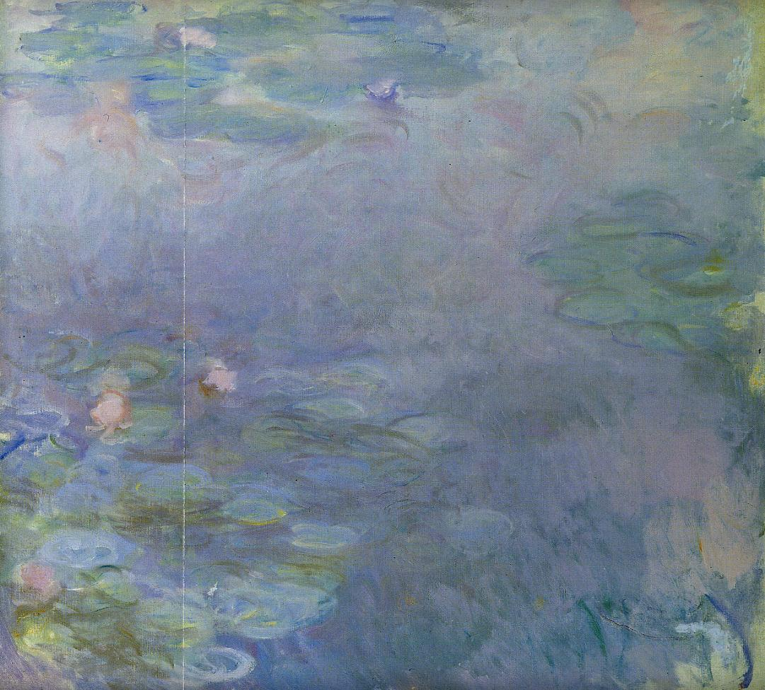 Pale Water-Lilies (detail) 1917-1920 | Claude Monet | Oil Painting