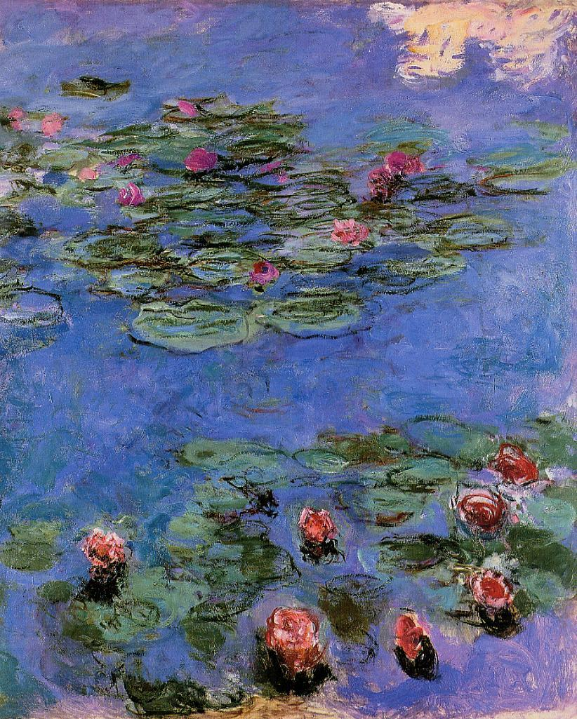 Red Water-Lilies 1914-1917 | Claude Monet | Oil Painting