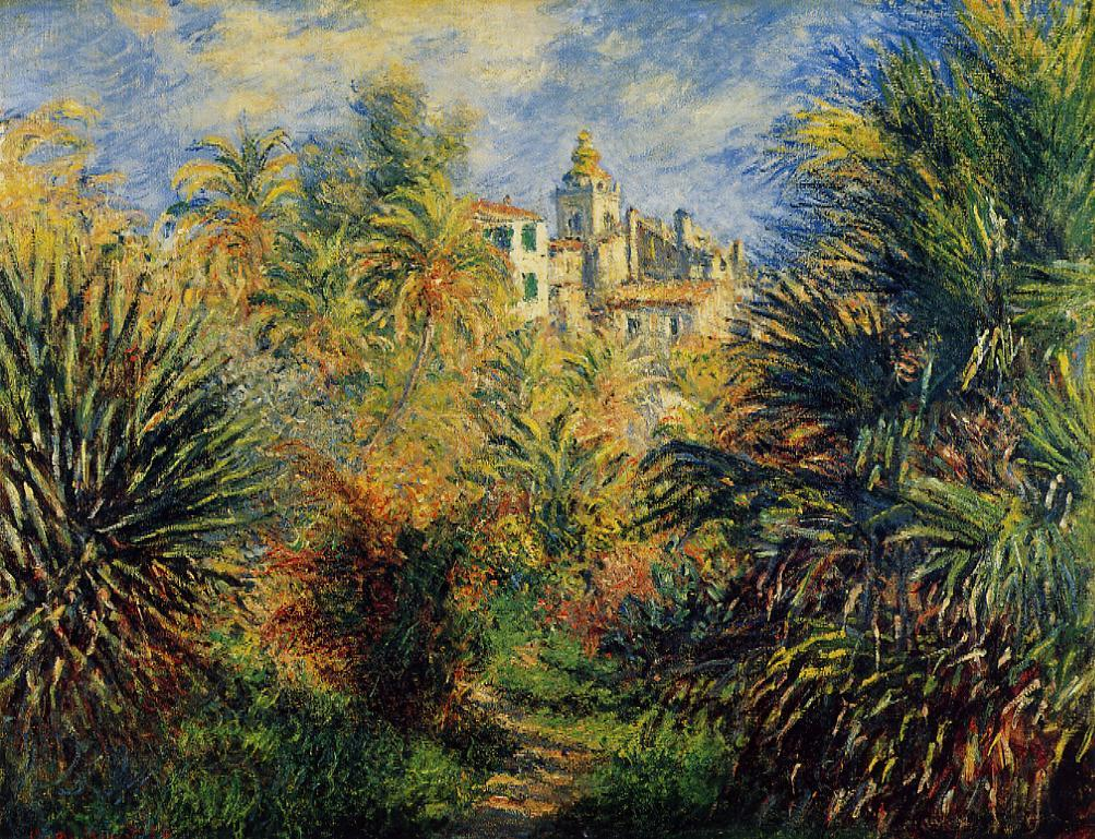 The Moreno Garden at Bordighera 1884 Painting | Claude Oscar Monet Oil  Paintings