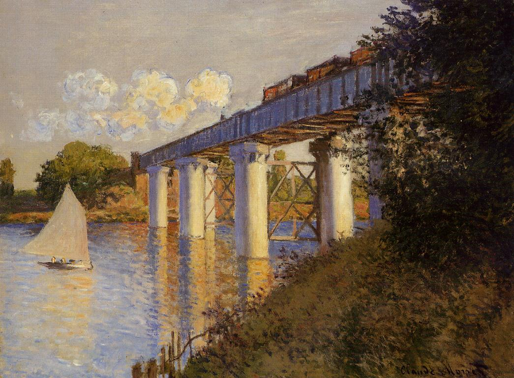 The Railway Bridge at Argenteuil1 1874 | Claude Monet | Oil Painting