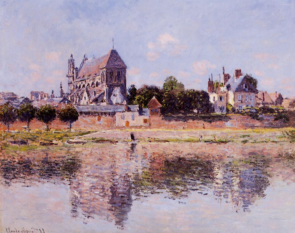 View of the Church at Vernon 1883 | Claude Monet | Oil Painting