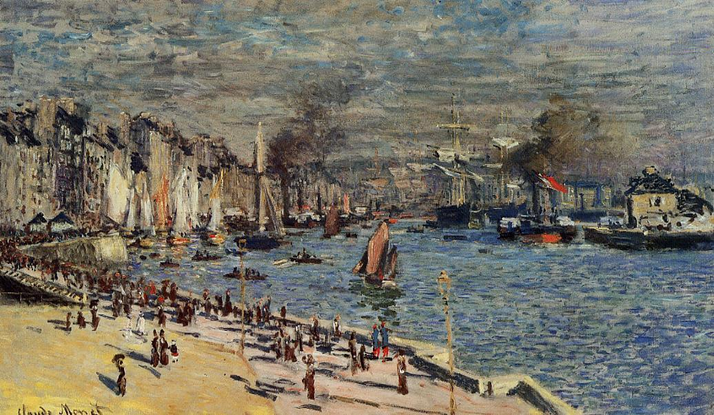 View of the Old Outer Harbor at Le Havre 1874 | Claude Monet | Oil Painting