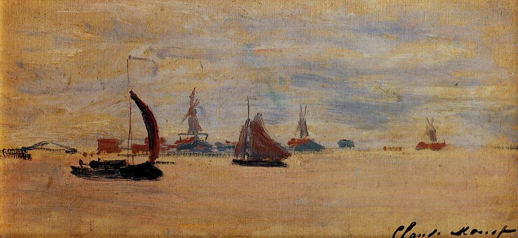 View of the Voorzaan 1871   Claude Monet   Oil Painting