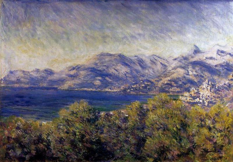 View of Ventimiglia 1884   Claude Monet   Oil Painting