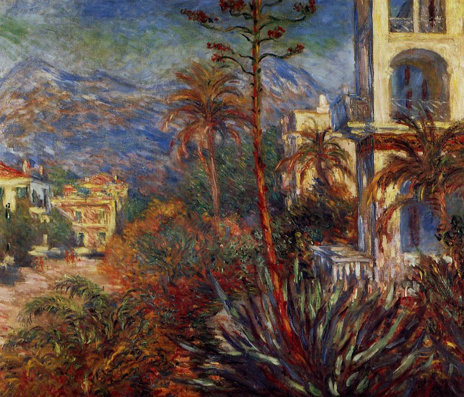 Villas at Bordighera 1884   Claude Monet   Oil Painting