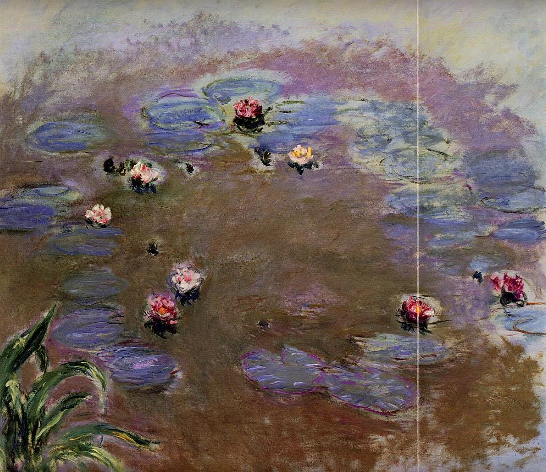 Water-Lilies (detail) 1914-1917 | Claude Monet | Oil Painting
