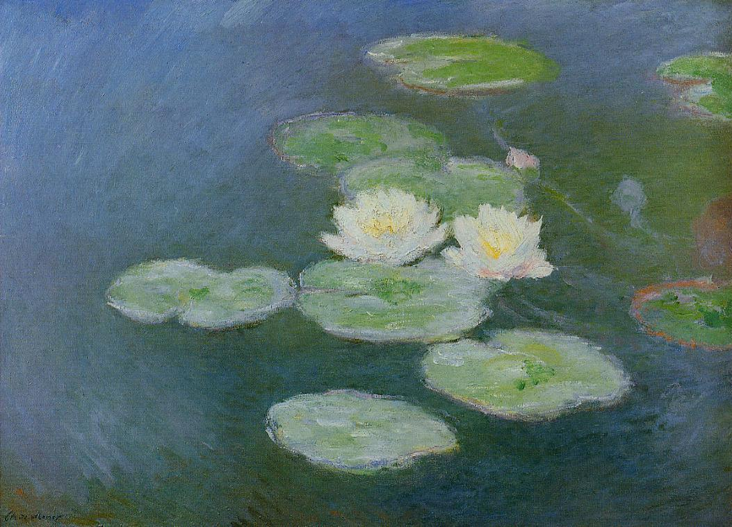 Water-Lilies Evening Effect 1897-1899 | Claude Monet | Oil Painting