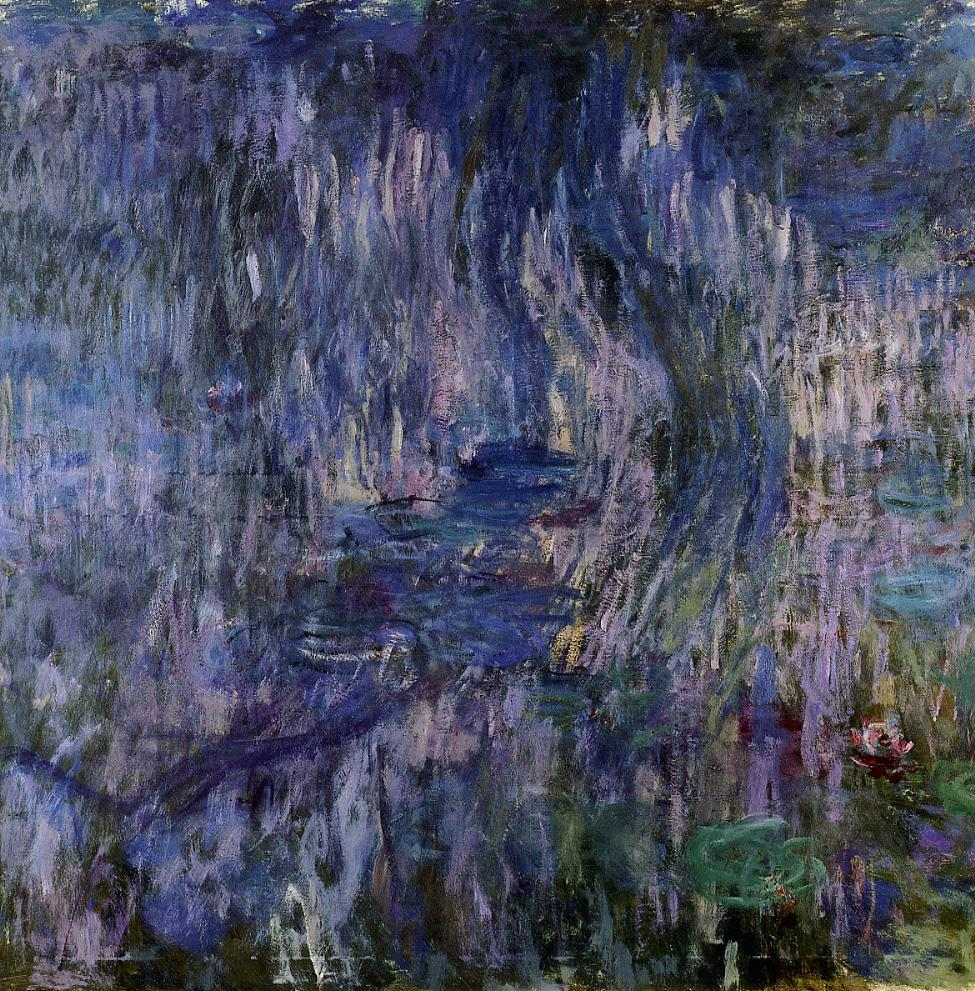 Water-Lilies Reflection of a Weeping Willow 1916-1919 | Claude Monet | Oil Painting