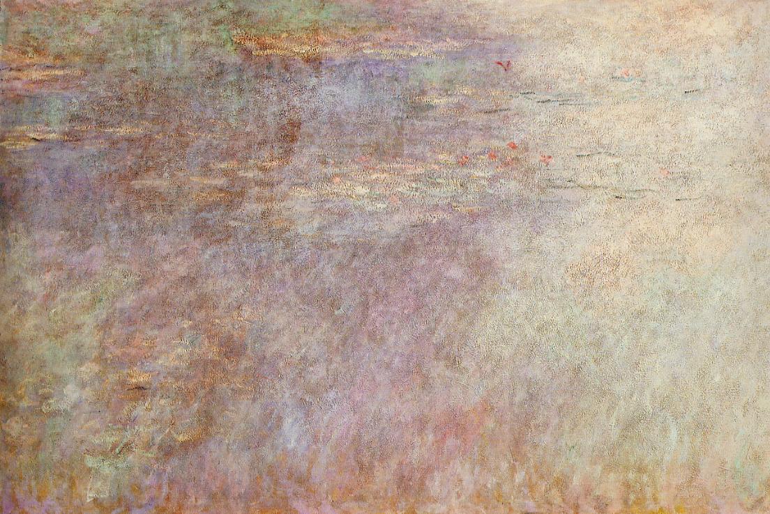 Water-Lillies Pond (left half) 1920-1926 | Claude Monet | Oil Painting