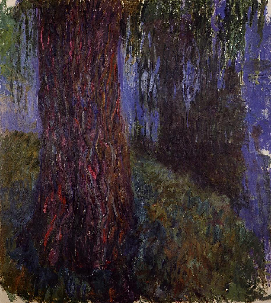 Water-Lily Garden with Weeping Willow 1916-1919 | Claude Monet | Oil Painting