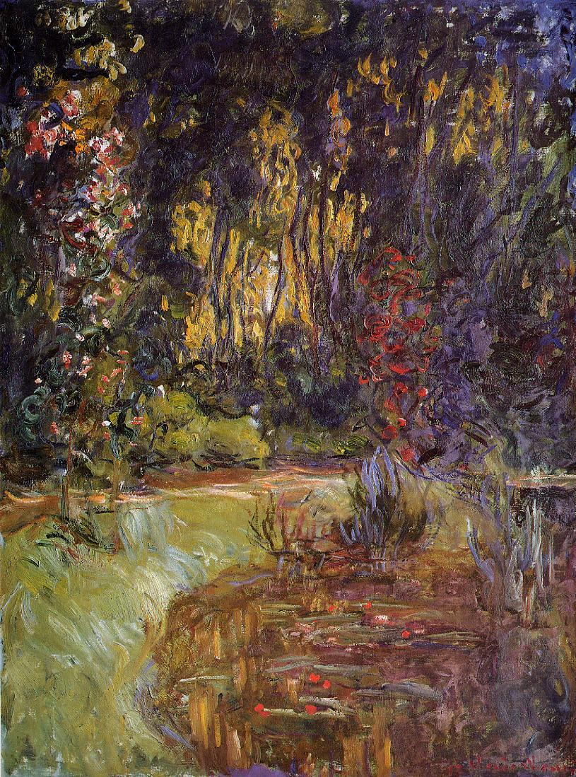 Water-Lily Pond at Giverny 1918-1919 | Claude Monet | Oil Painting