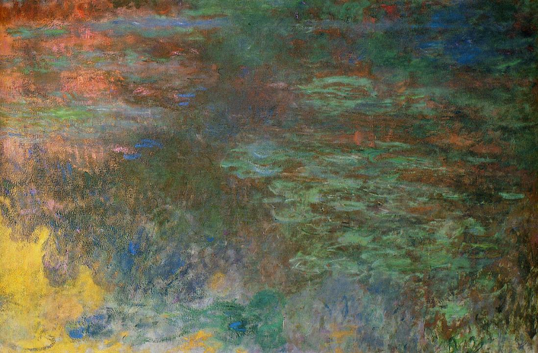 Water-Lily Pond Evening (right panel) 1920-1926 | Claude Monet | Oil Painting