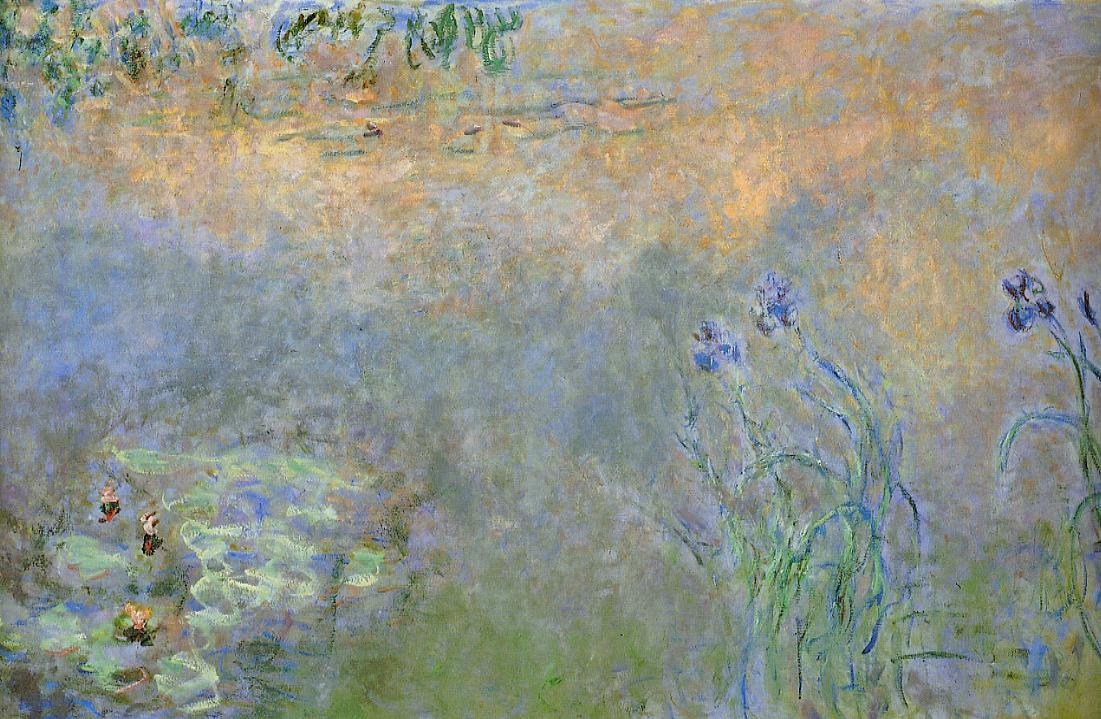 Water-Lily Pond with Irises 1920-1926 | Claude Monet | Oil Painting