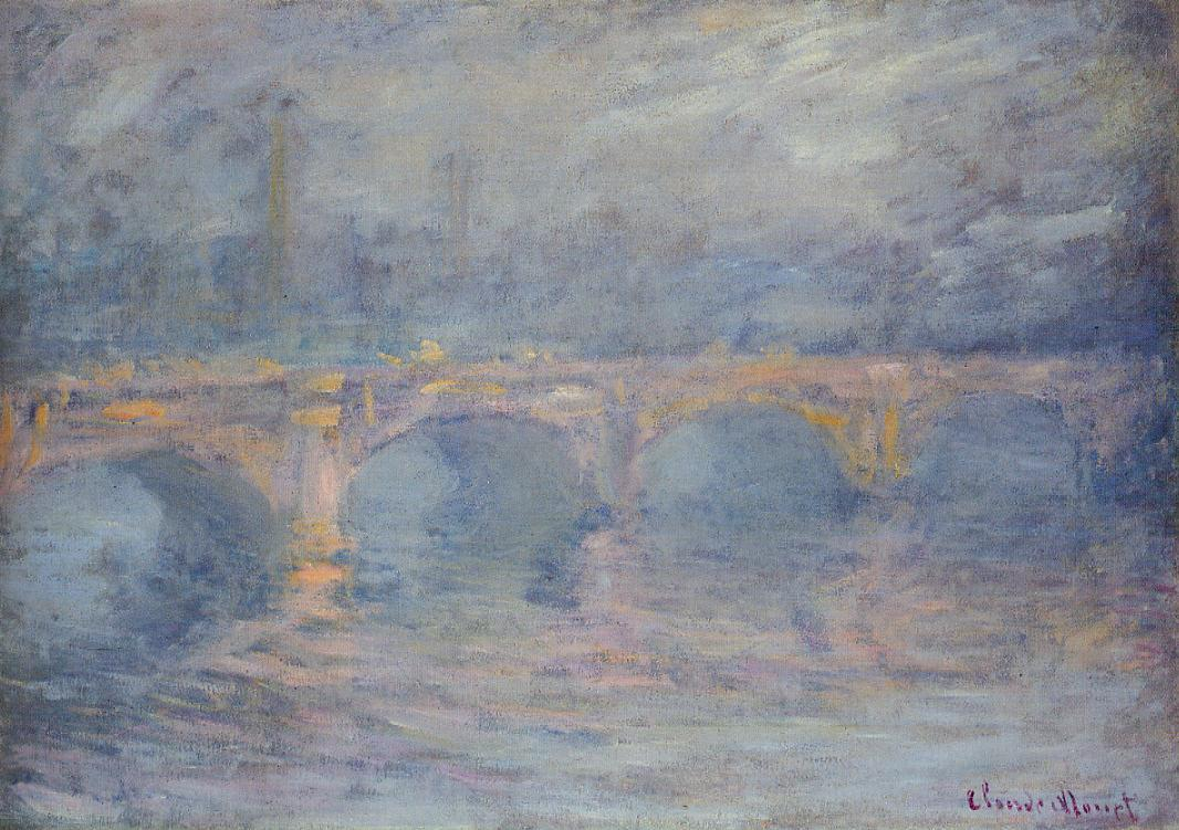 Waterloo Bridge at Sunset Pink Effect 1899-1901 | Claude Monet | Oil Painting