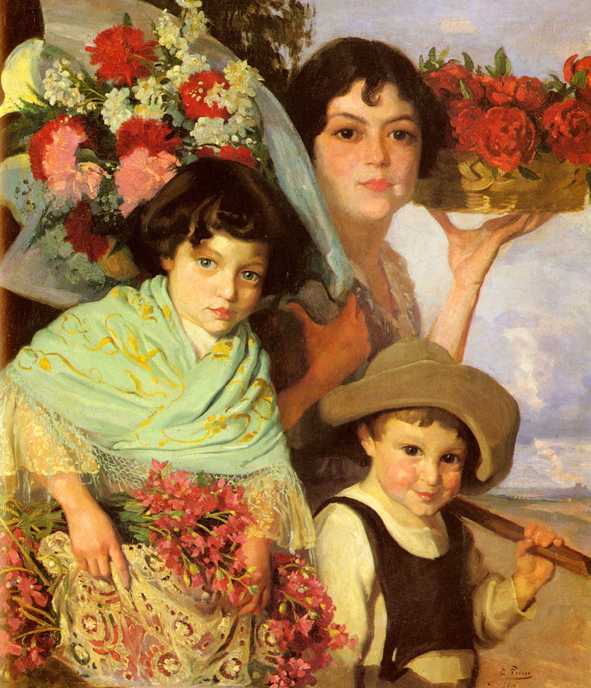 Flower Gatherers | Henry Farny | Oil Painting