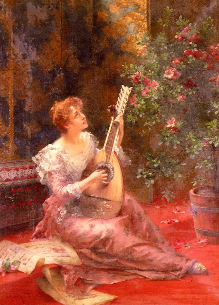 The Lute Player | Conrad Kiesel | Oil Painting