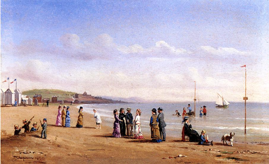 Beach Scene in Normandy  1880 | Conrad Wise Chapman | Oil Painting