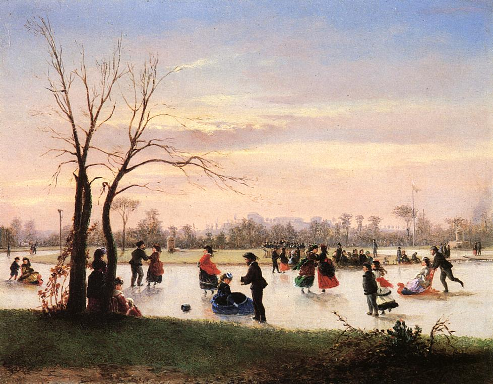 Ice Skating at Twilight | Conrad Wise Chapman | Oil Painting