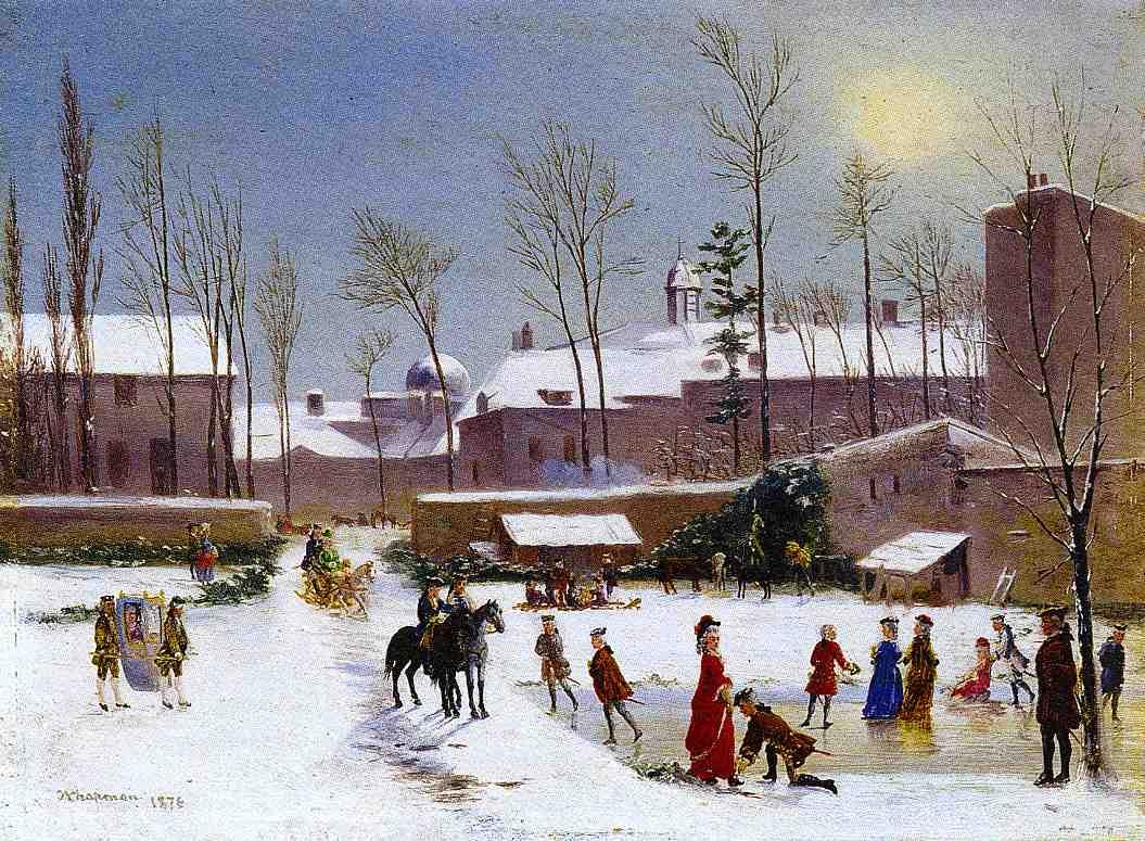 Skating Scene  1876 | Conrad Wise Chapman | Oil Painting